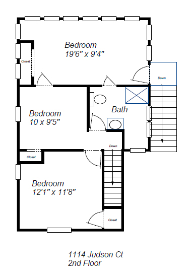 1114 Judson 2nd Floor Plan Layout